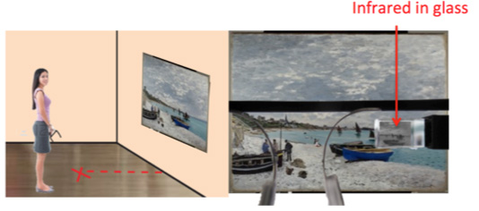 Google Glass app being developed through NU-ACCESS will allow for virtual exploration of artworks.
