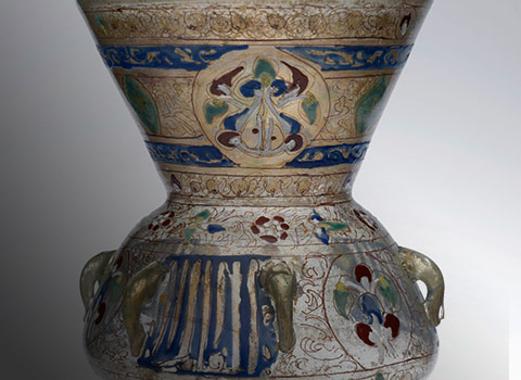 A 13th Century Mamluk Glass Mosque Lamp